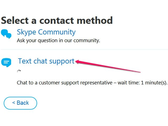 A live chat representative is usually available in a few minutes.