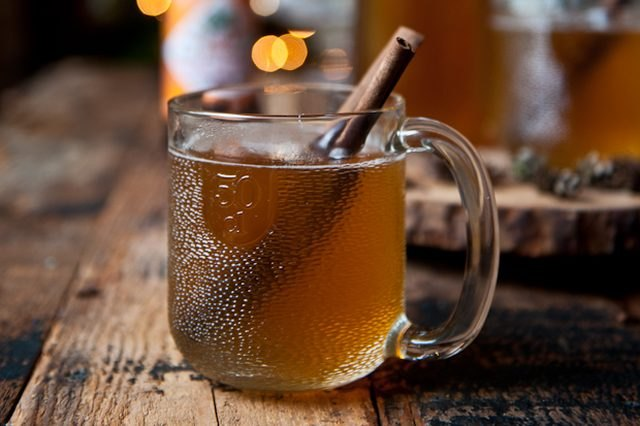 warm your guests up with this boozy beer hot cider