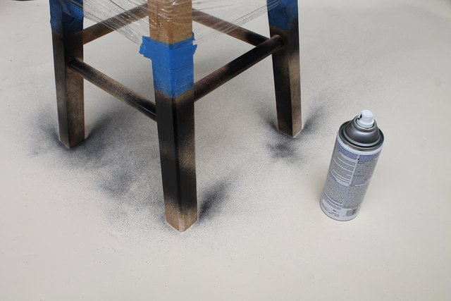 Spray paint the stool.