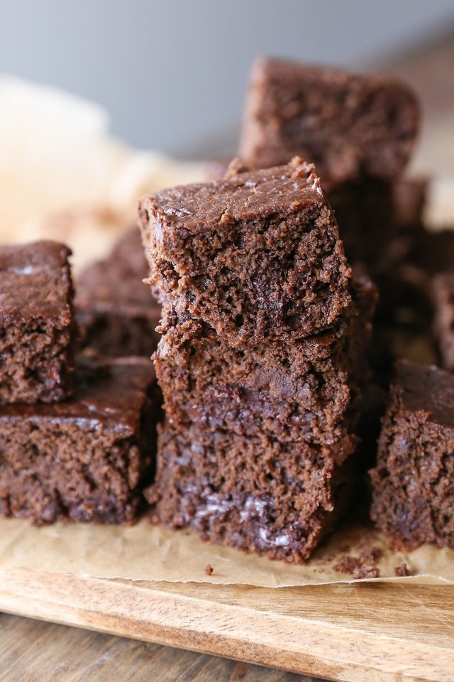 Cut brownies and serve