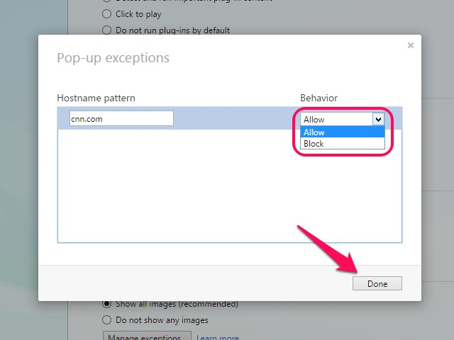 Opera lets you add multiple exceptions, each on their own line.