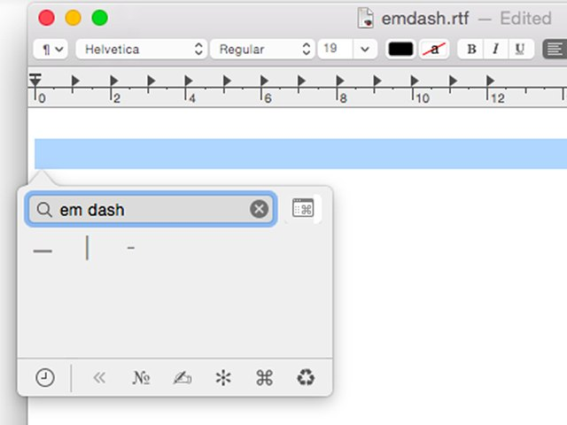 how to produce an em dash on a mac