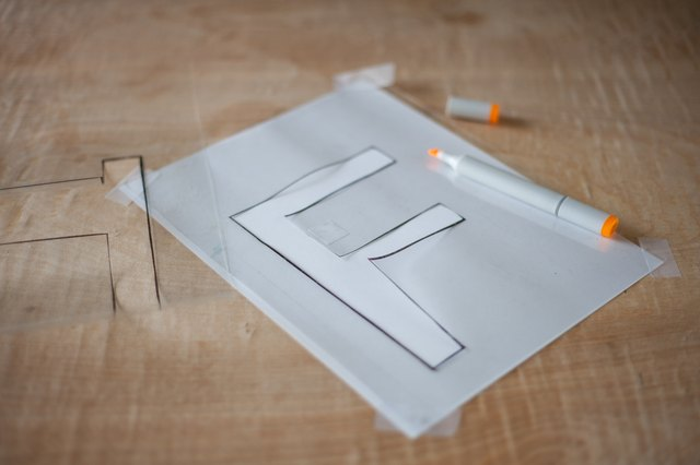 How to Make Large Alphabet Stencils