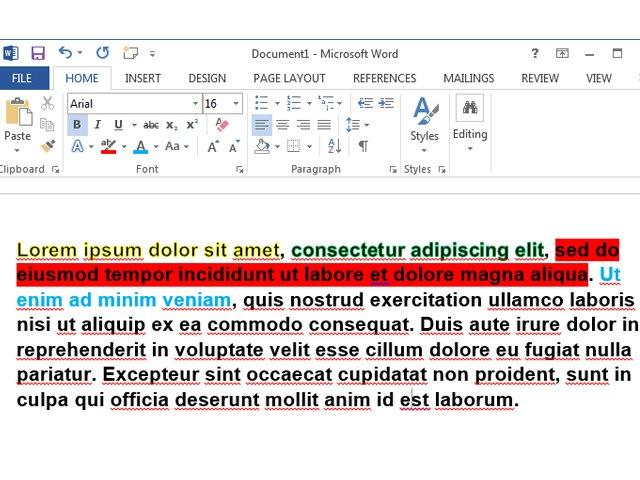 Word has a few predefined text effects that you can use.