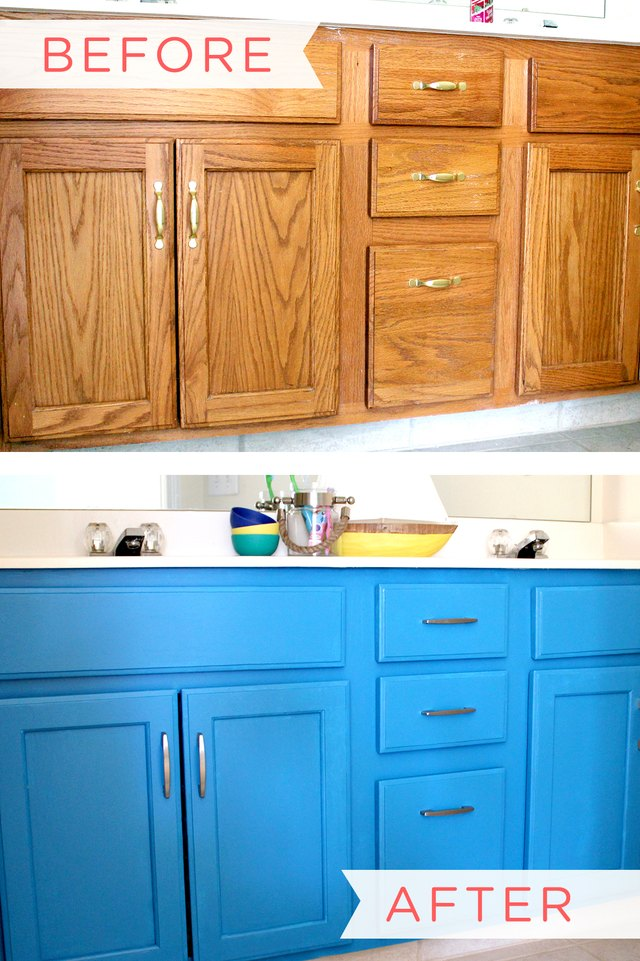 how to paint a bathroom vanity cabinet ehow