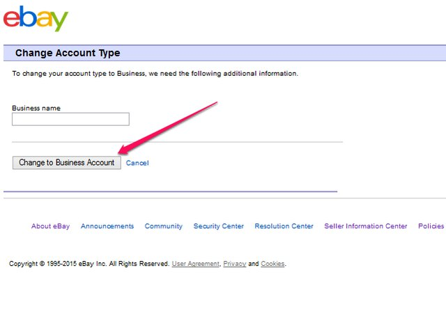 how to open ebay business account