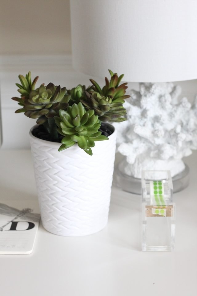 This faux succulent planter requires no water -- ever.