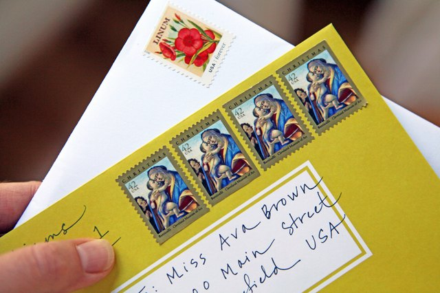 How To Affix Multiple Stamps To An Envelope With Pictures