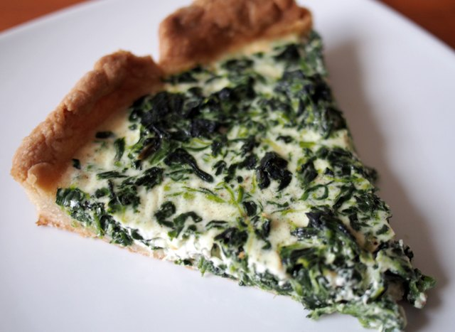A spinach quiche makes for an elegant and easy lunch.
