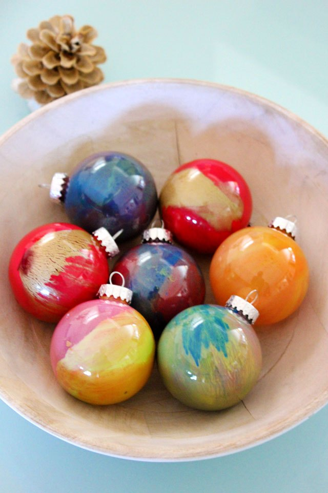 How to paint glass ball ornaments ehow for Crafts for clear glass ornament balls