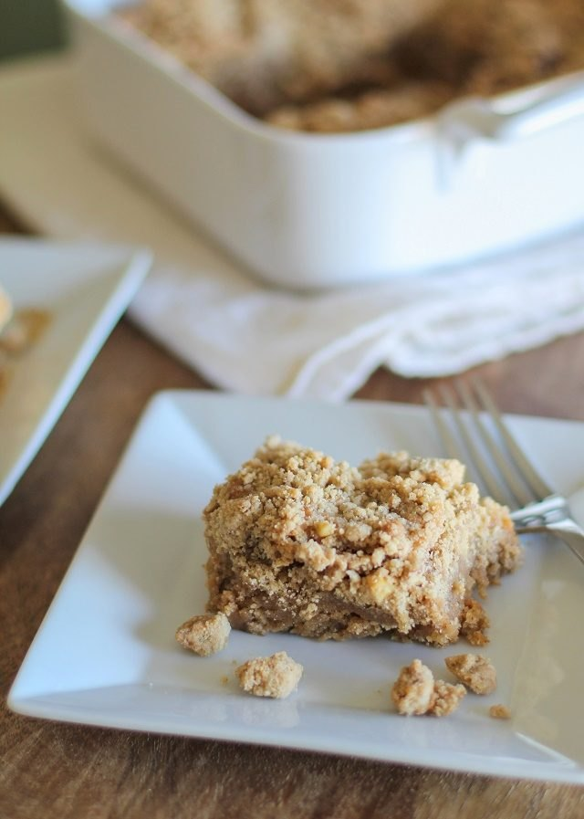 This coffee cake pairs perfectly with a fresh, hot cup of joe.