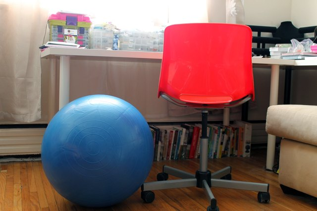 How To Sit On An Exercise Ball At A Desk With Pictures