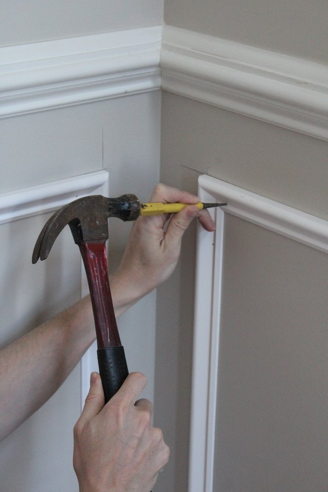 How To Add Molding Squares To A Wall Ehow