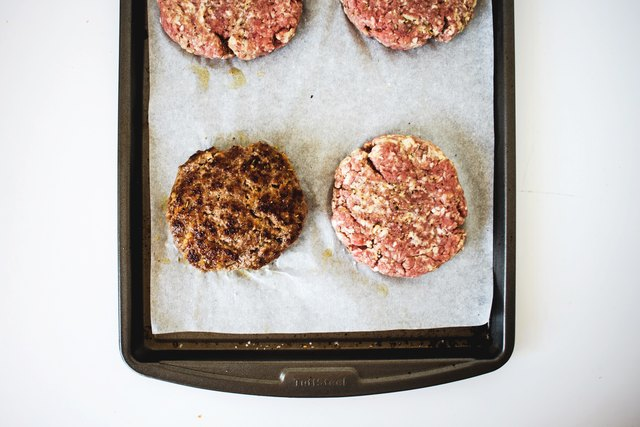 Homemade beef hamburger patties are a easy to make.