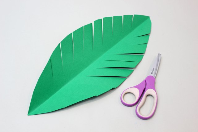 Cut slits in the leaves