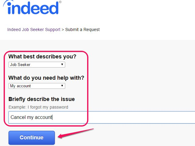 how to cancel an account with indeed ehow