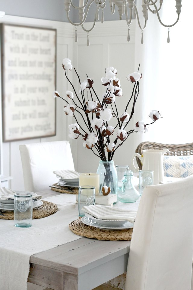 How To Make A Faux Cotton Branch Centerpiece Ehow