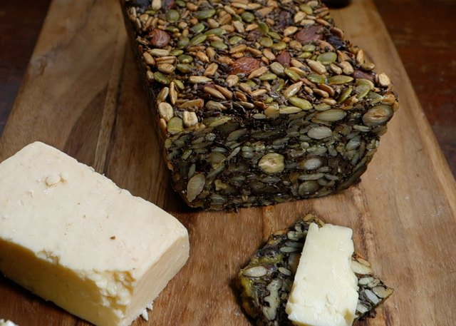 """Recipe for:  Nordic """"Stone Age"""" bread made from whole nuts and seeds 5d6e4ec9-a79a-4d8c-b11e-7b74208ccbc5"""