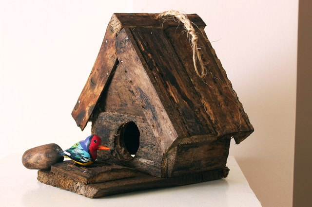 A birdhouse can be either practical or simply decorative.