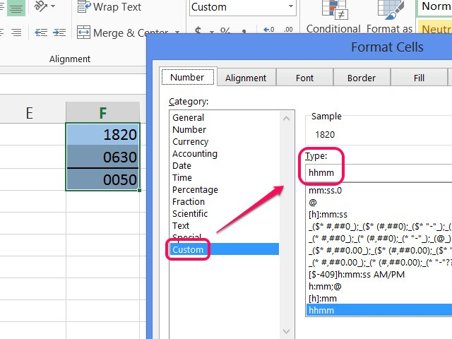 how to make intervals in excel