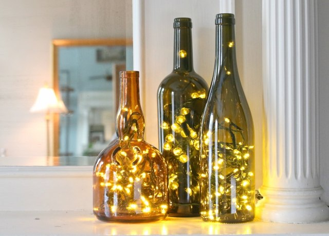 how to put christmas lights in a wine bottle ehow