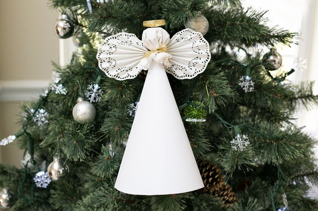 How to Make a Paper Angel for a Christmas Tree Top