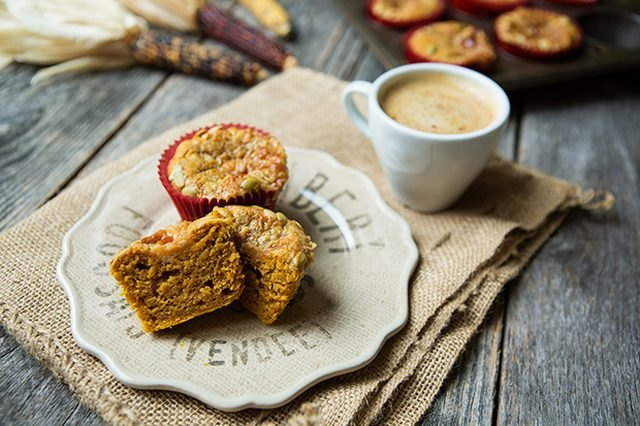 These moist and flavorful muffins will go great with a fresh pumpkin spice latte.
