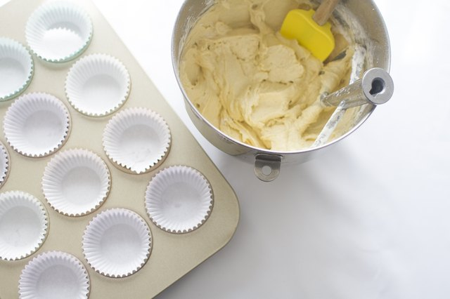 Pour batter into cupcake liners