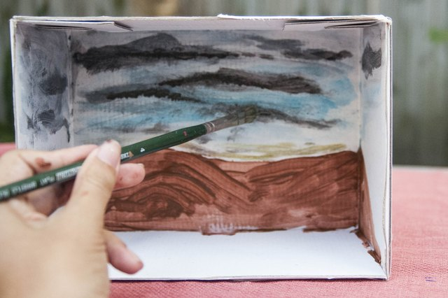 how to make a shoebox diorama book report