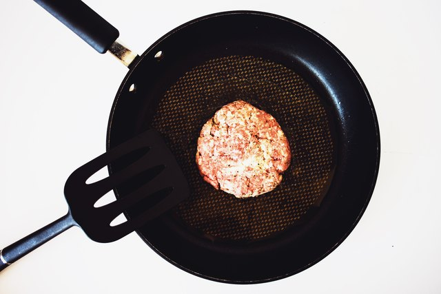 Fry the patties on each side until just cooked through.