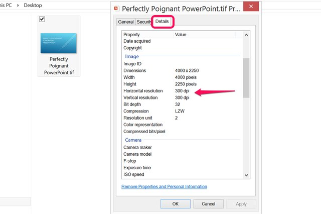how to change powerpoint dpi