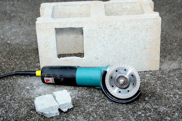 How to Cut Concrete Blocks With an Angle Grinder
