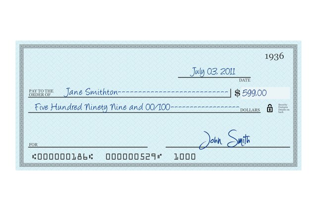 How to write a check?