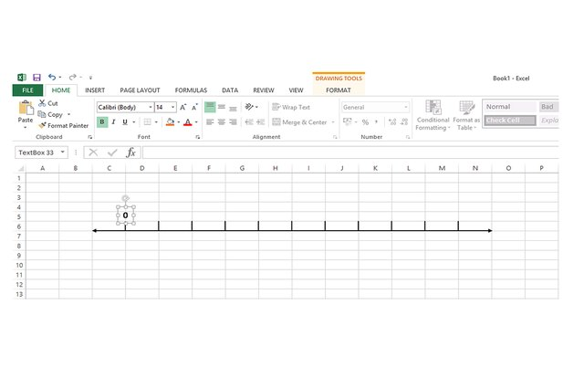 how to draw extroploation lines in excel