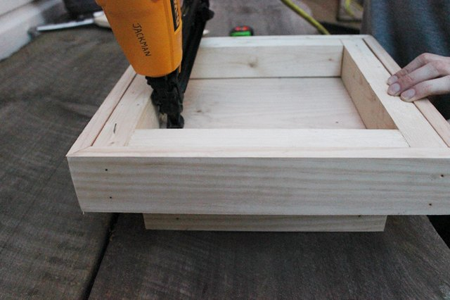 Nail the boxes together from the bottom.