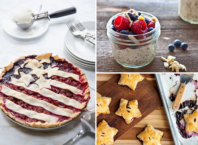 For a colorful July 4 celebration, serve up some red-white-and-blue-themed foods.