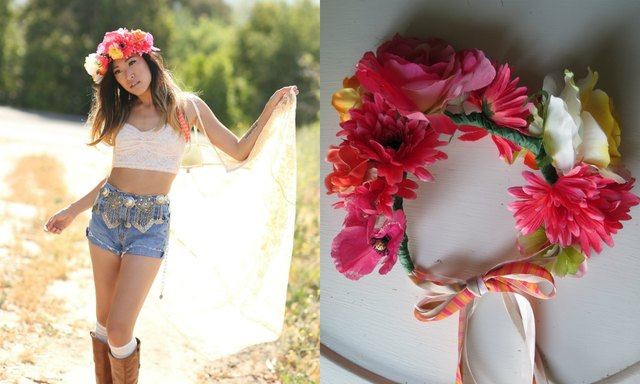 Style your festival look with your new flower crown.