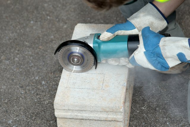 Cutting Holes In Concrete : How to cut concrete blocks with an angle grinder ehow