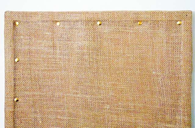Gold push pins further secure the fabric to your board and add decorative interior border as well.
