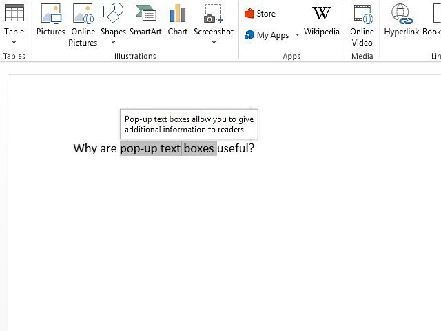 Hover your mouse over anchor text to see your pop-up.