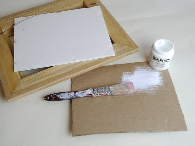 Use white frame backings or paint cardboard white.