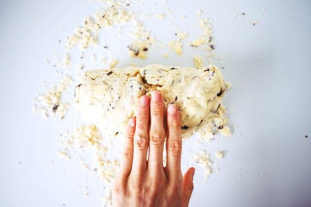 Fold the dough in half.