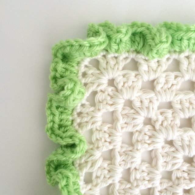 Free Crochet Pattern Ruffle Edging : How to Crochet Ruffle Edges eHow