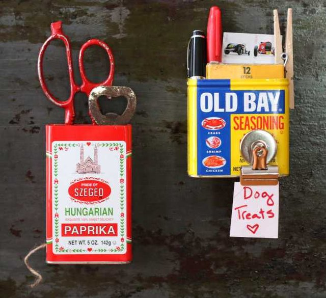 Make Mini Kitchen Organizers Out of Empty Spice Tins Tutorial