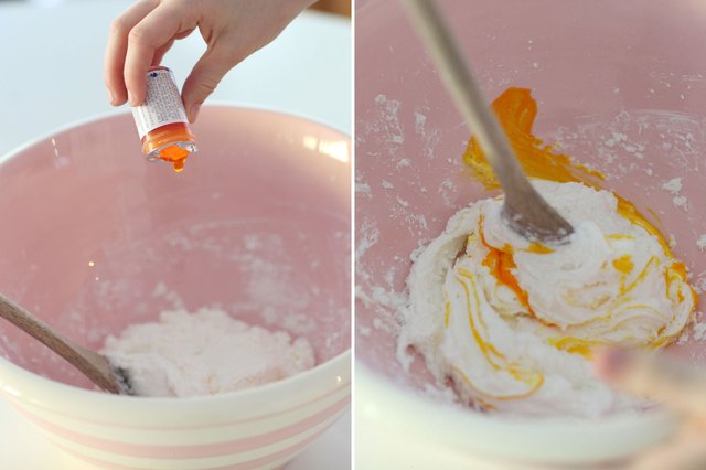 Add food coloring if desired and mix.