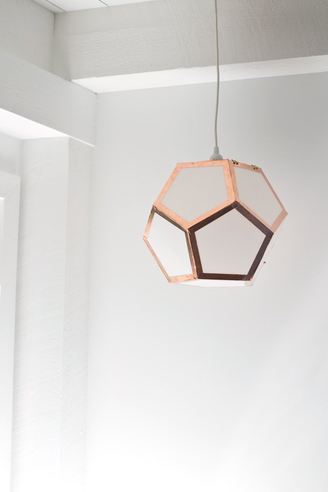 How to make a dodecahedron pendant light ehow for Dodecahedron light fixture