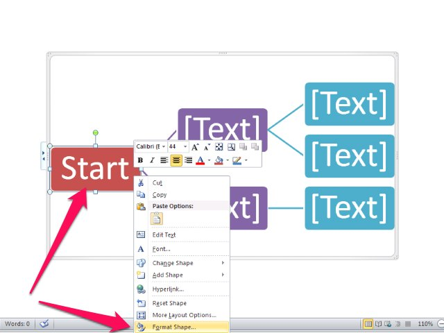 how to change opacity of shapes in word