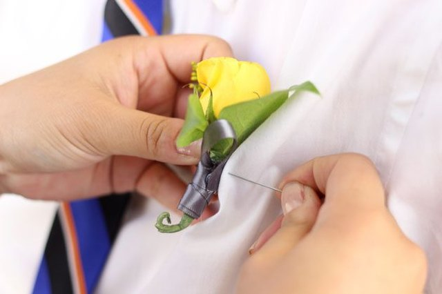 Those DIY boutonnieres aren't going anywhere once you're finished with them.