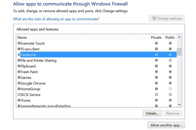 how to give access firewall avast