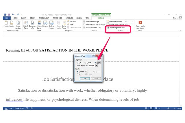 how to use tabs in word